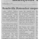Reachville Ransacker suspect released