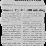 Simone Martin still missing – E-fit of Unsub inside