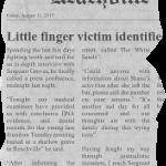 Little finger victim identified