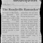 The Reachville Ransacker's