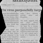 Flu virus purposefully targets men