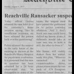 Reachville Ransacker suspect released